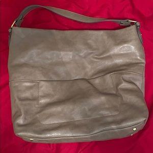 Merona stone color faux leather shoulder bag